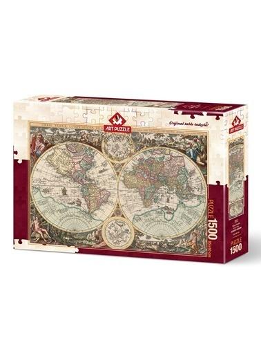 Educa Art Puzzle 1500 Parça Dünya Haritası Renkli
